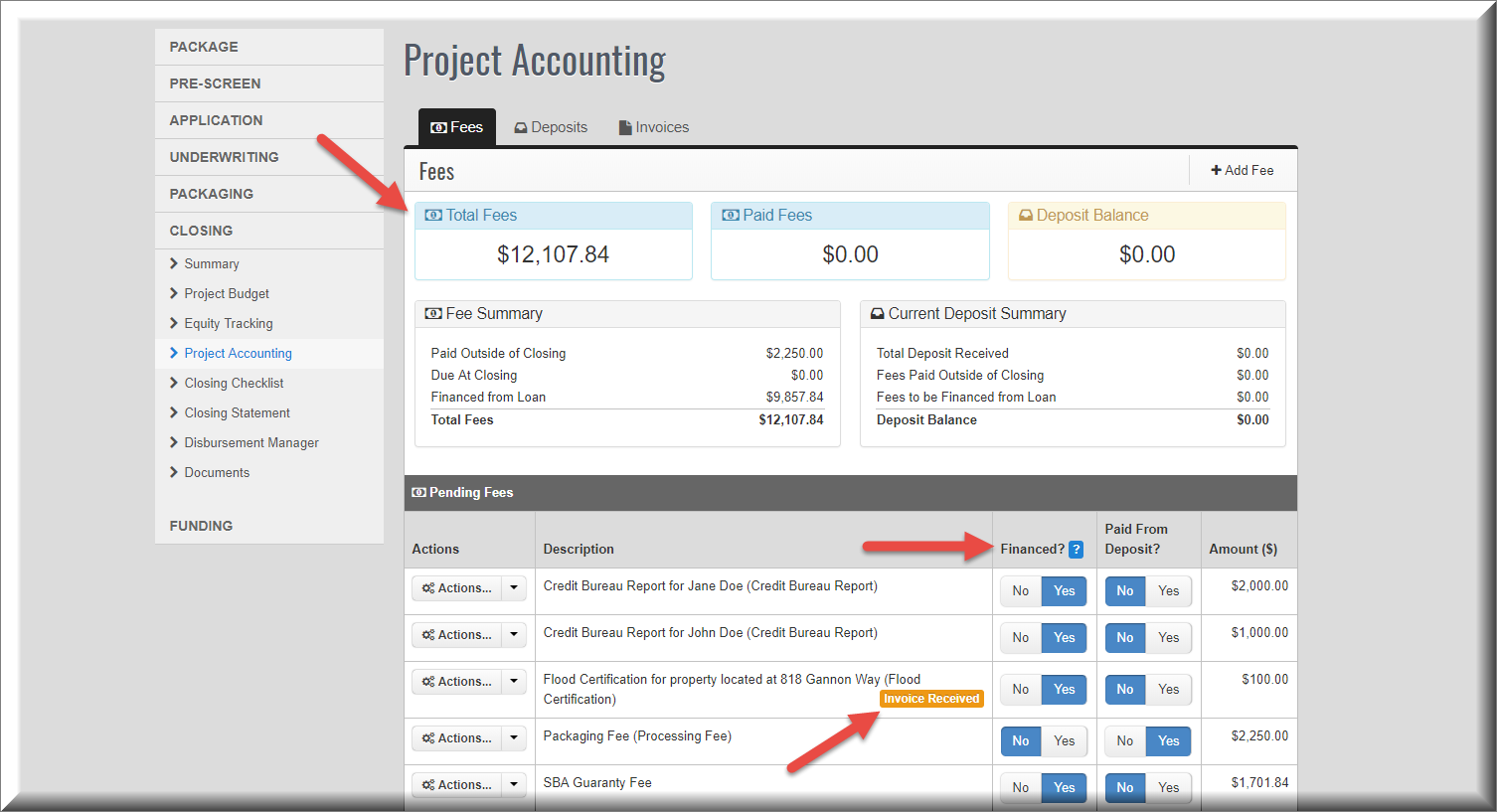 Project accounting fee changes made in SPARK version 6.6